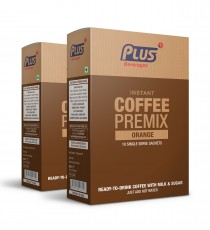 Get Instant Orange Coffee Premix at best price - Free Shipping | Plus Beverages