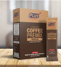 Get Instant Hot Coffee Low Sugar Premix at best price - Free Shipping | Plus Beverages