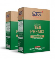 Get Instant Cardamom Low Sugar Tea Premix at best price - Free Shipping | Plus Beverages