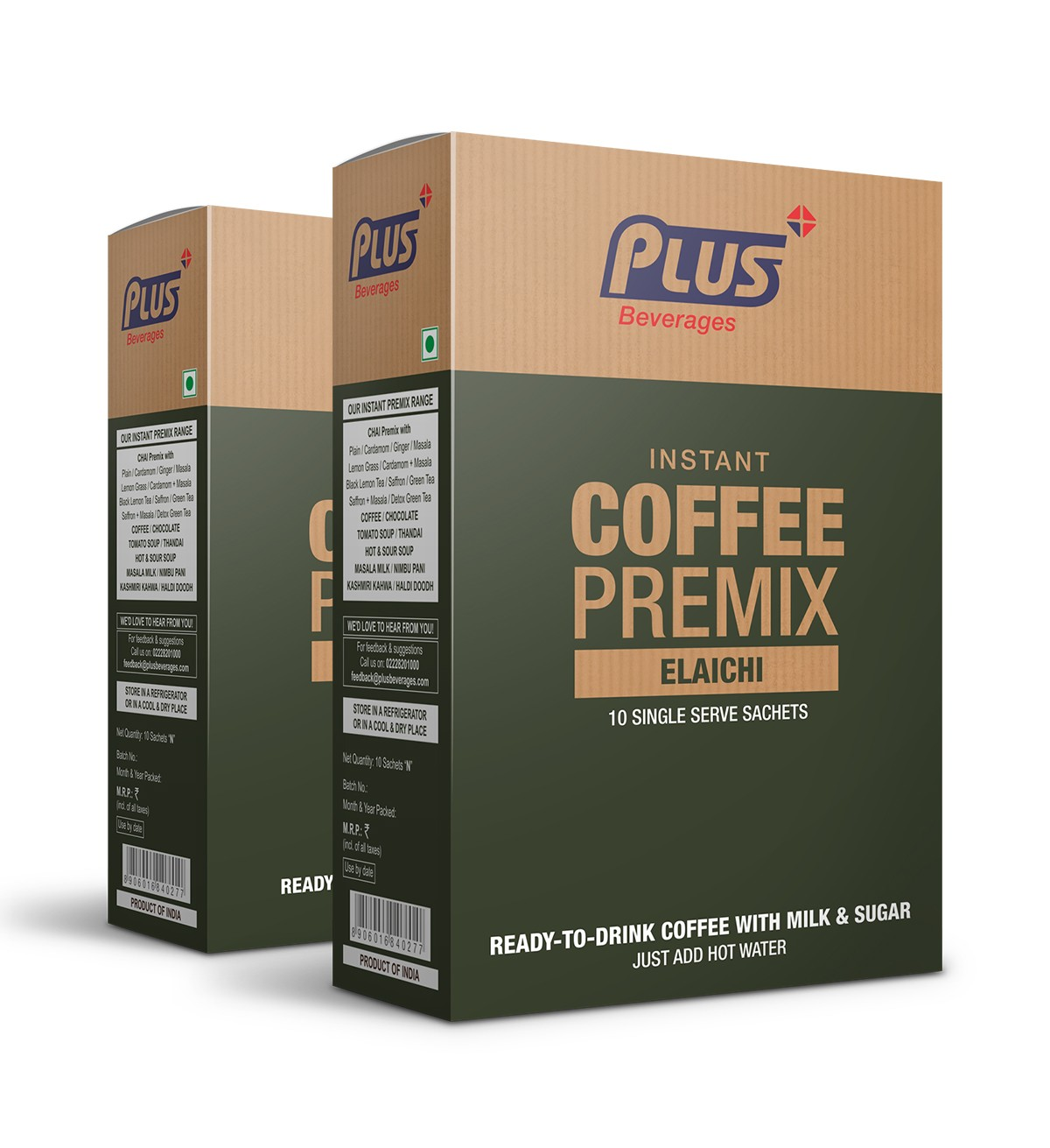 Get Instant Cardamom Coffee Premix at best price - Free Shipping | Plus Beverages
