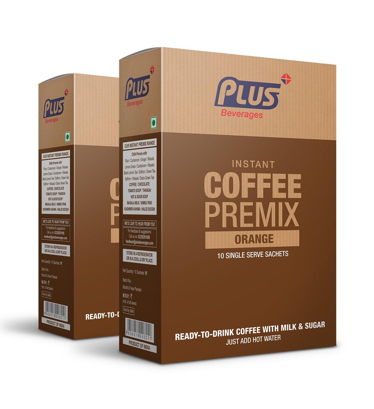 Get Instant Orange Coffee Premix at best price - Free Shipping | Plus Beverages