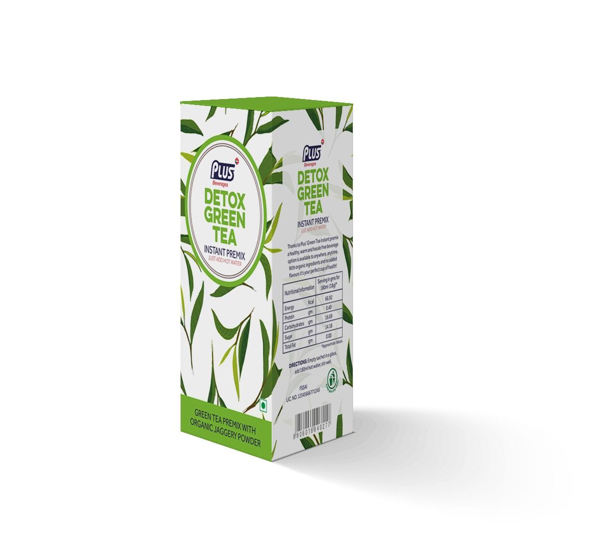 Get Instant Detox Green Tea Premix at best price - Free Shipping   Plus Beverages