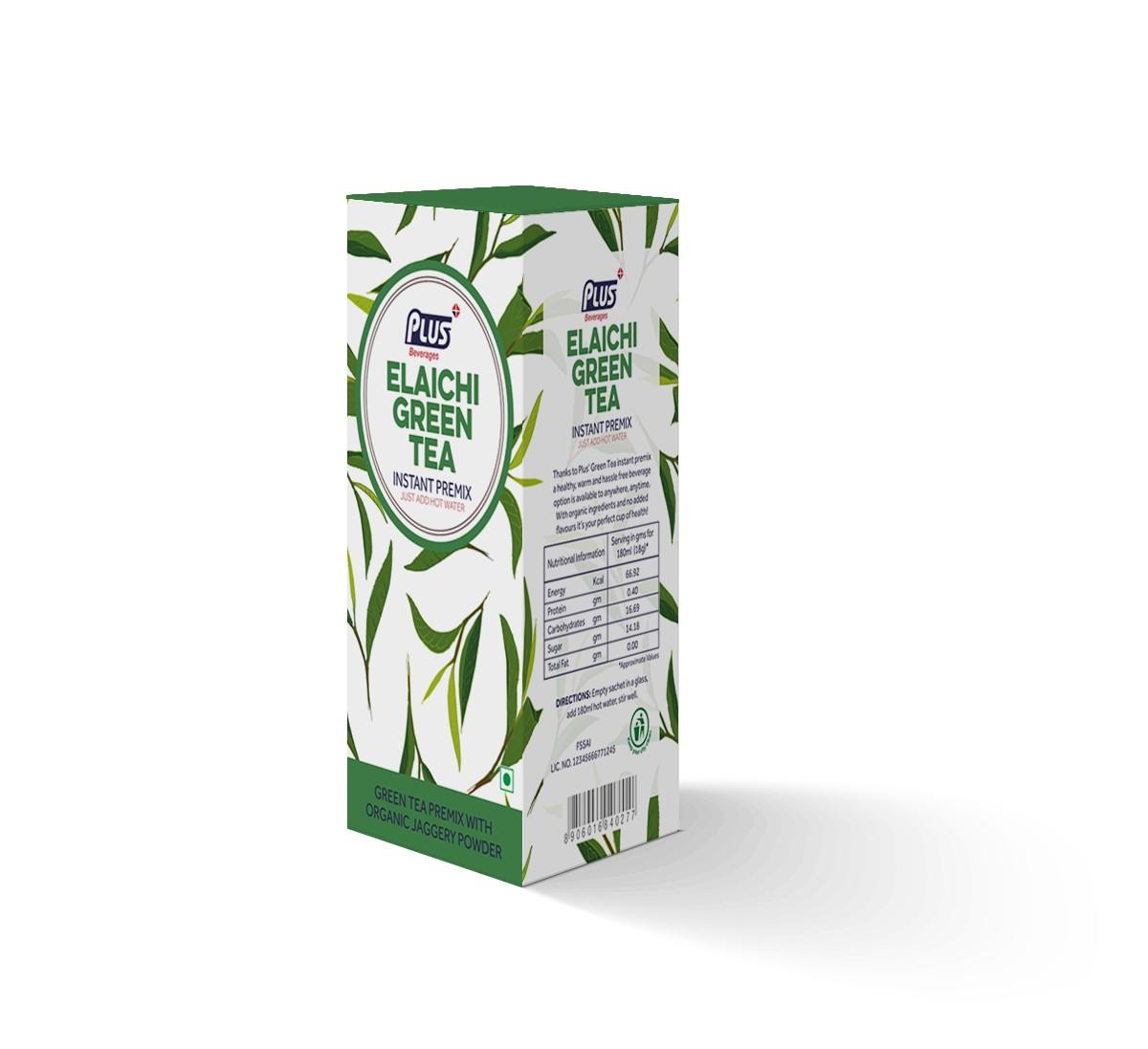 Get Instant Elaichi Green Tea Premix at best price - Free Shipping | Plus Beverages