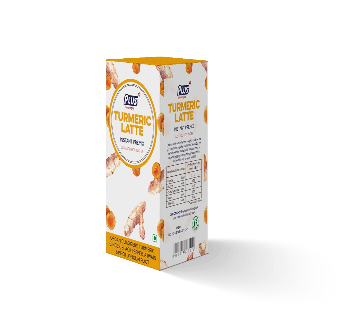 Get Instant Turmeric latte Premix at best price - Free Shipping | Plus Beverages