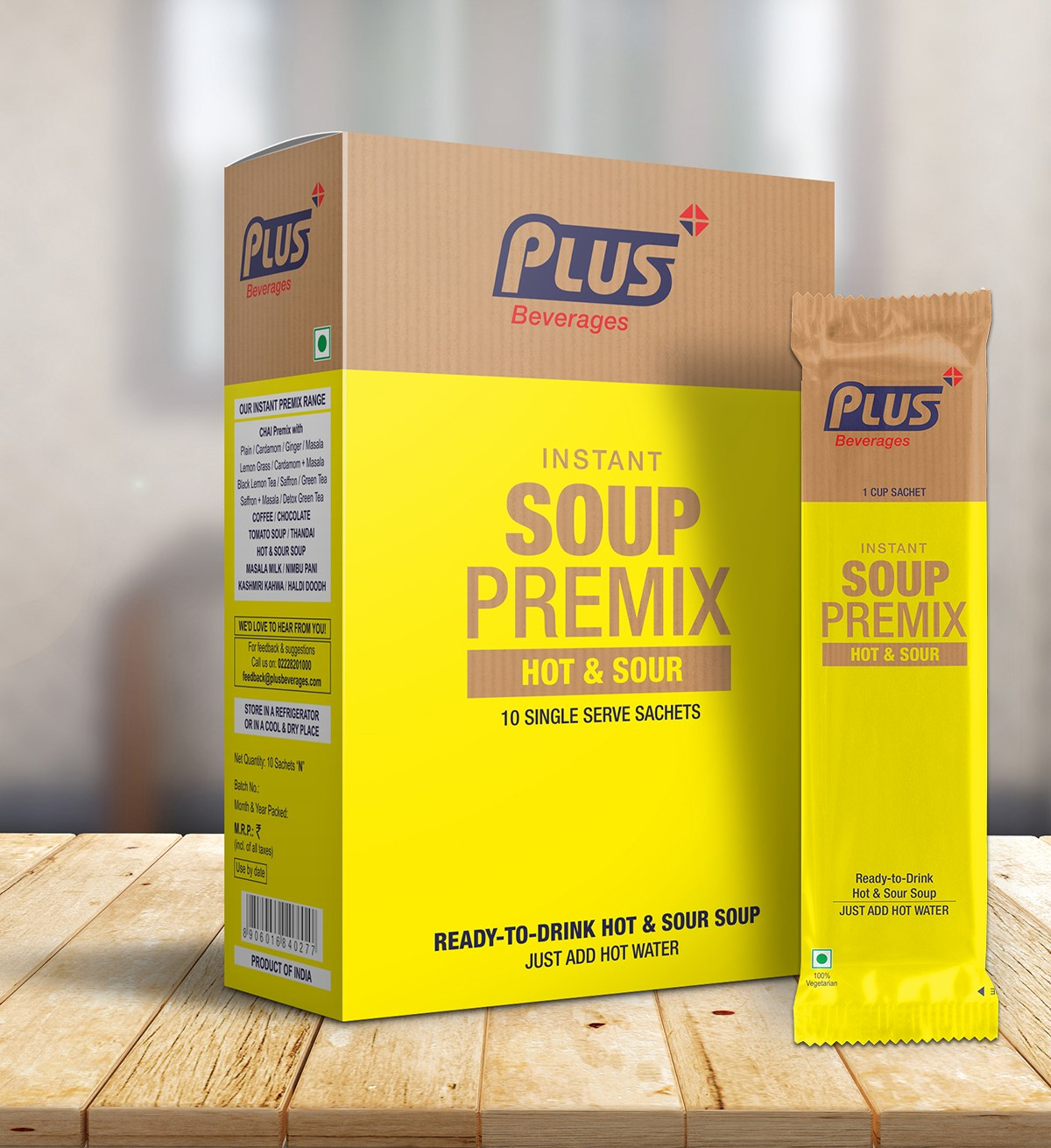 Get Instant Hot-N-Sour Chinese Soup Premix at best price - Free Shipping | Plus Beverages