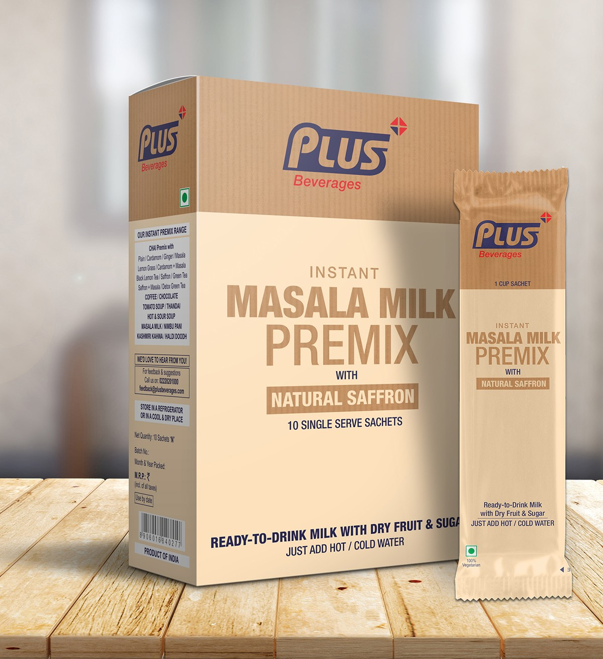 Get Instant Masala Milk Premix at best price - Free Shipping | Plus Beverages