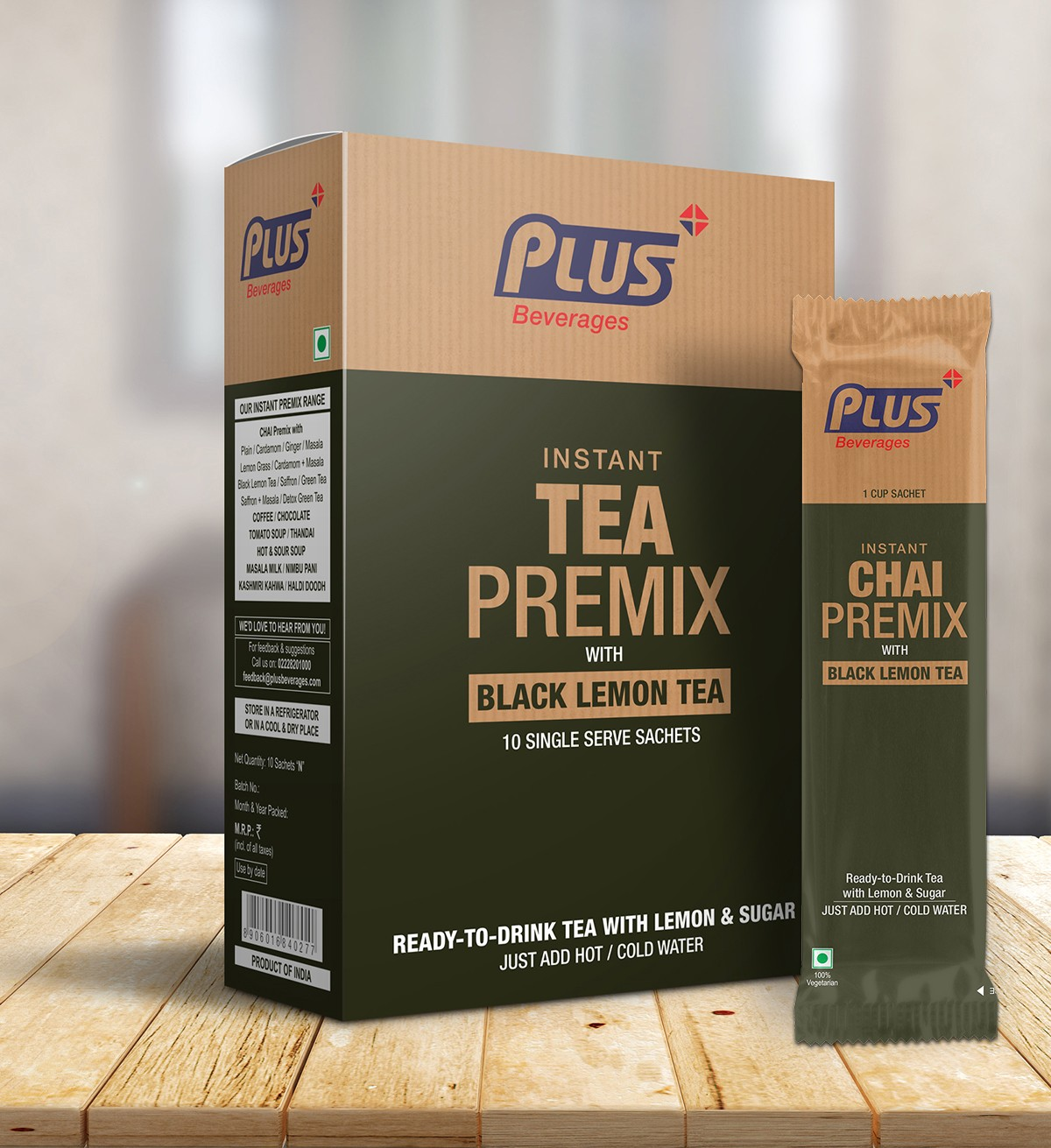 Get Instant Black Lemon Tea Premix at best price - Free Shipping | Plus Beverages