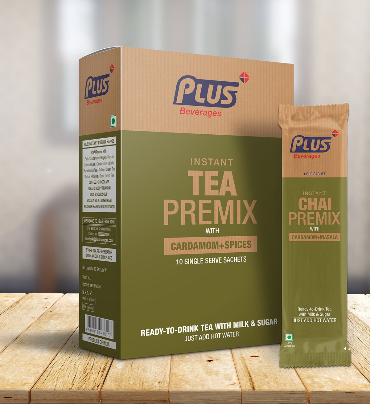 Get Instant Tea With Elaichi Masala Premix at best price - Free Shipping   Plus Beverages