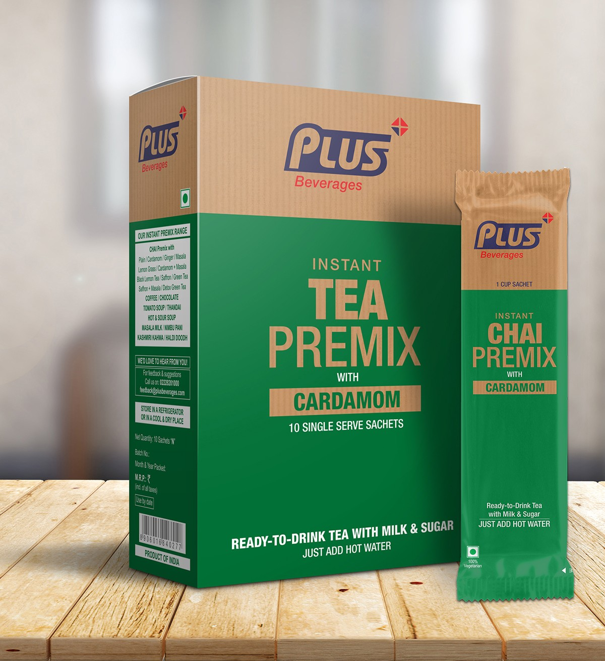 Get Instant Tea With Elaichi Premix at best price - Free Shipping | Plus Beverages