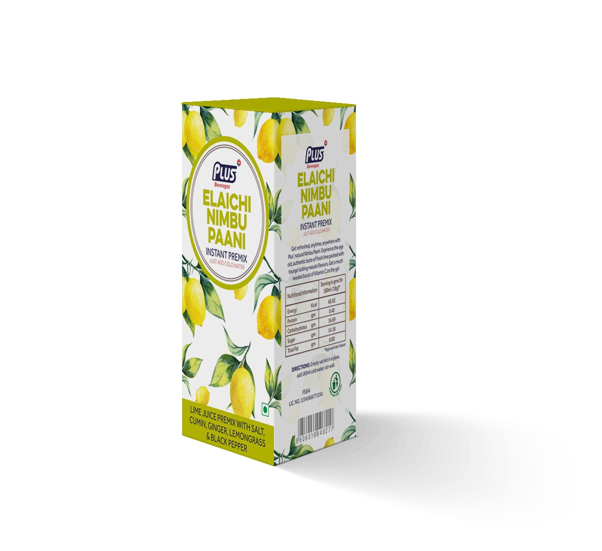 Get Instant Elaichi Nimbu Paani Premix at best price - Free Shipping | Plus Beverages