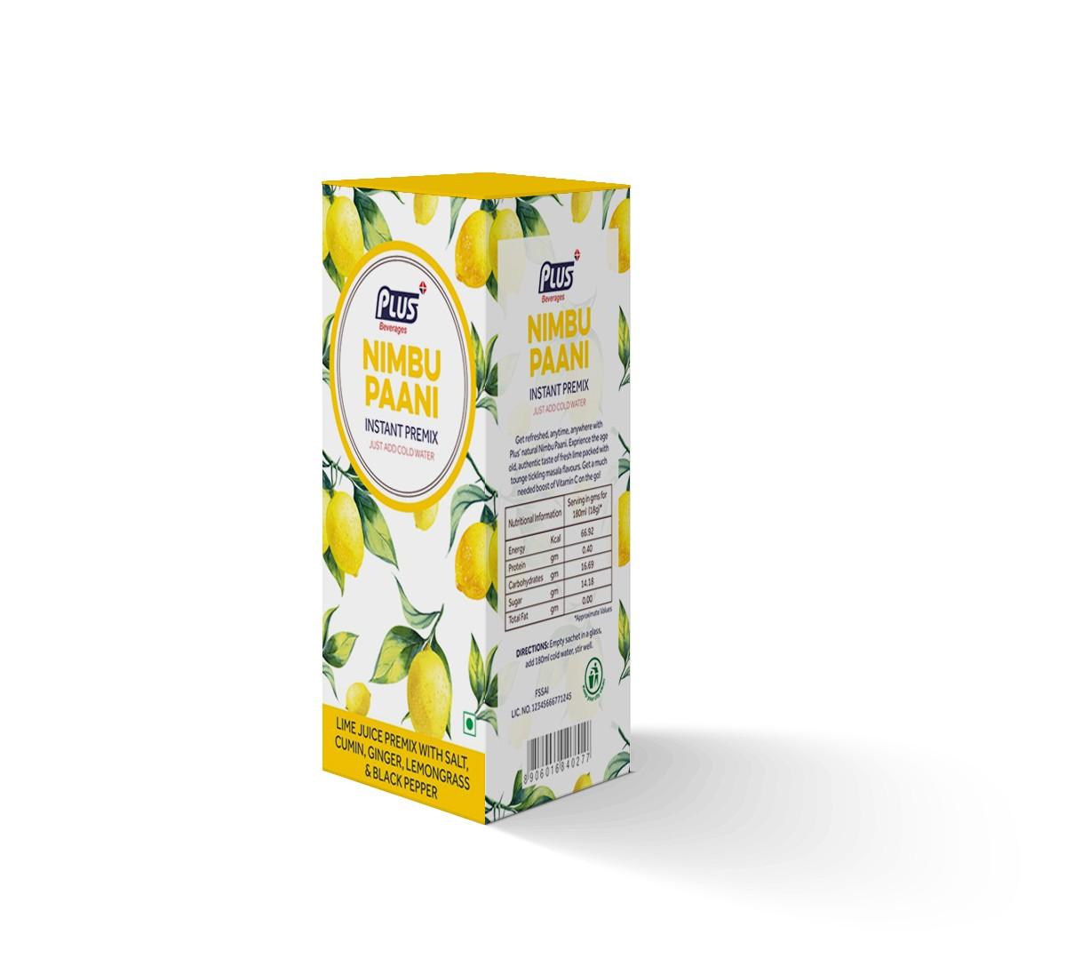 Get Instant Regular Nimbu Paani Premix at best price - Free Shipping | Plus Beverages