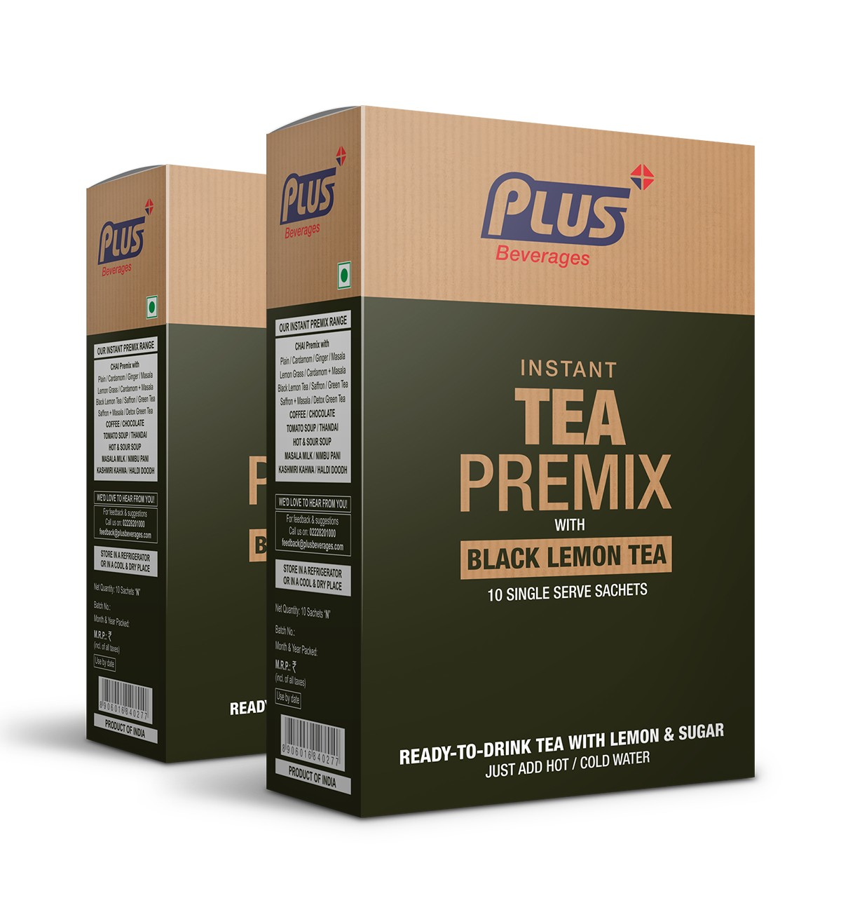 Get Instant Black Tea Lemon Premix at best price - Free Shipping | Plus Beverages