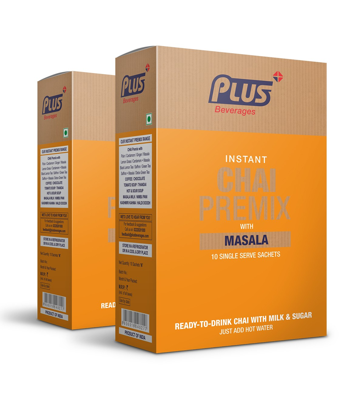 Get Instant Masala Tea Premix at best price - Free Shipping   Plus Beverages