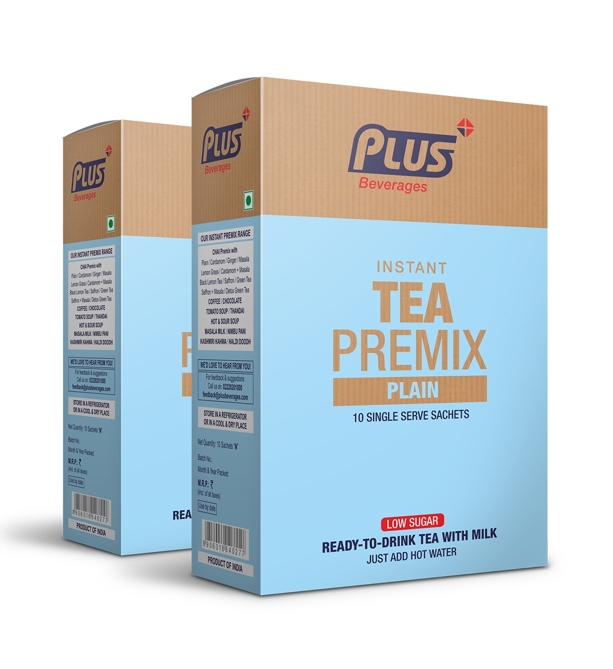 Get Instant Plain Tea with Low Sugar Premix at best price - Free Shipping   Plus Beverages