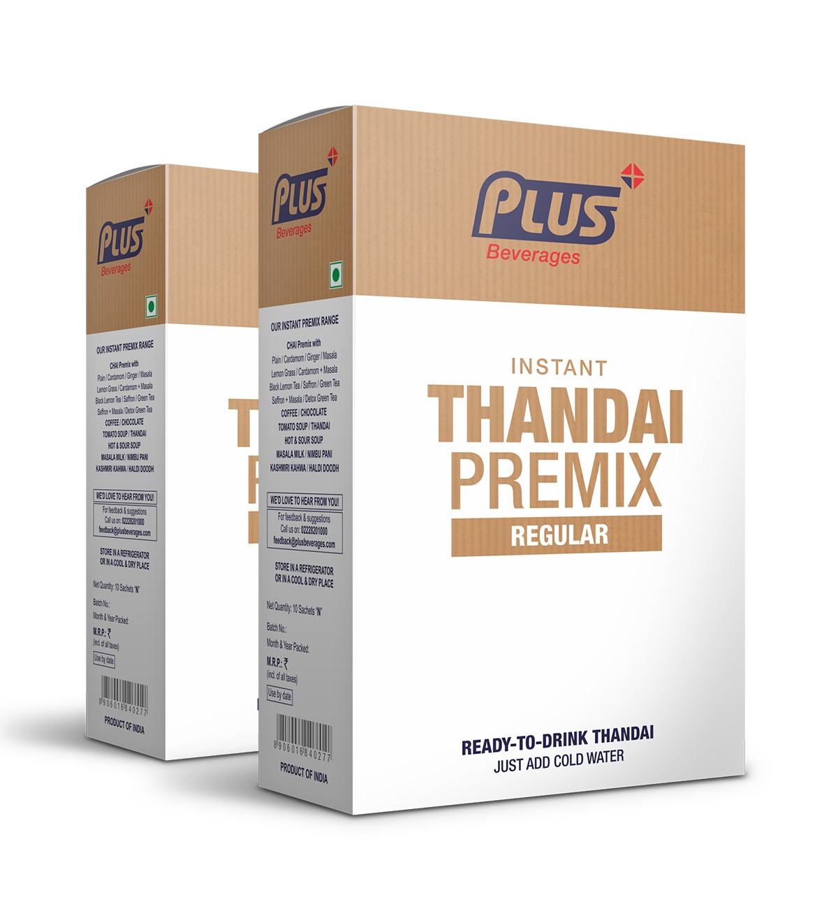 Get Instant Thandai Premix at best price - Free Shipping | Plus Beverages