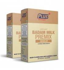 Get Instant Badam Milk Premix at best price - Free Shipping | Plus Beverages