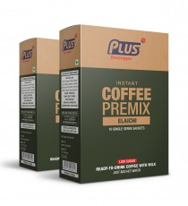 Get Instant Cardamom Low Sugar Coffee Premix at best price - Free Shipping | Plus Beverages