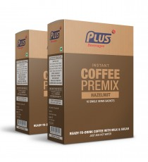 Get Instant Hazel Nut Coffee Premix at best price - Free Shipping   Plus Beverages