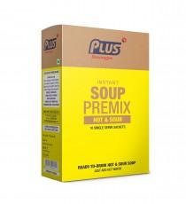 Plus Beverages Instant Hot & Sour Soup Premix (10 Sachets)