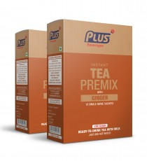 Get Instant Low sugar Tea With Ginger Premix at best price - Free Shipping | Plus Beverages