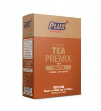 Plus Beverages Instant Chai Tea Premix With Ginger (10 Sachets)