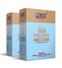 Get Instant Plain Tea with Low Sugar Premix at best price - Free Shipping | Plus Beverages