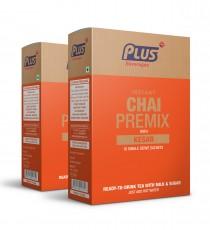 Get Instant Saffron Tea Low sugar Premix at best price - Free Shipping | Plus Beverages