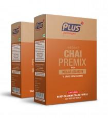 Get Instant Low sugar Saffron Tea With Elaichi Premix at best price - Free Shipping | Plus Beverages